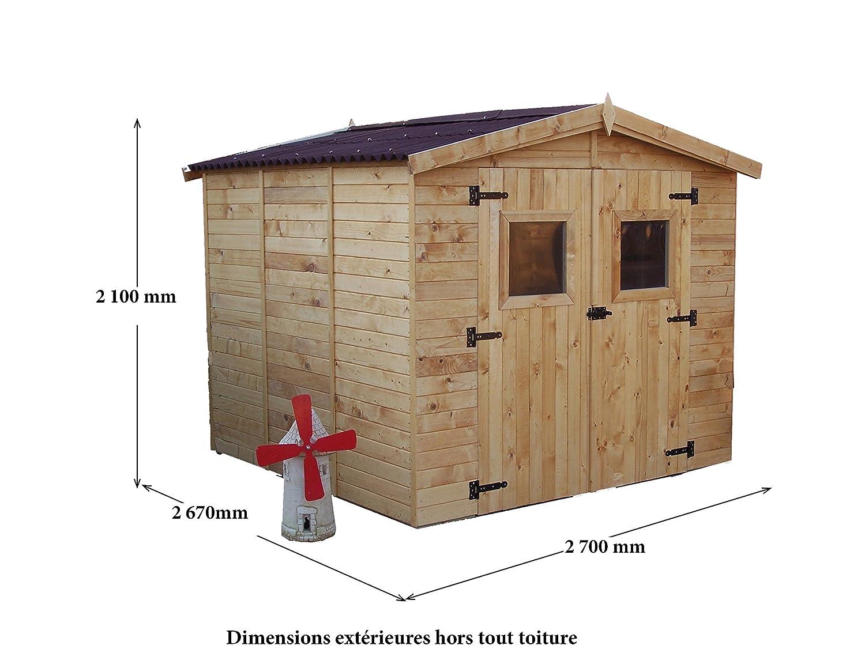 Caseta de listones de 16 mm de grosor, modelo Eden 2424: Amazon.es: Bricolaje y herramientas