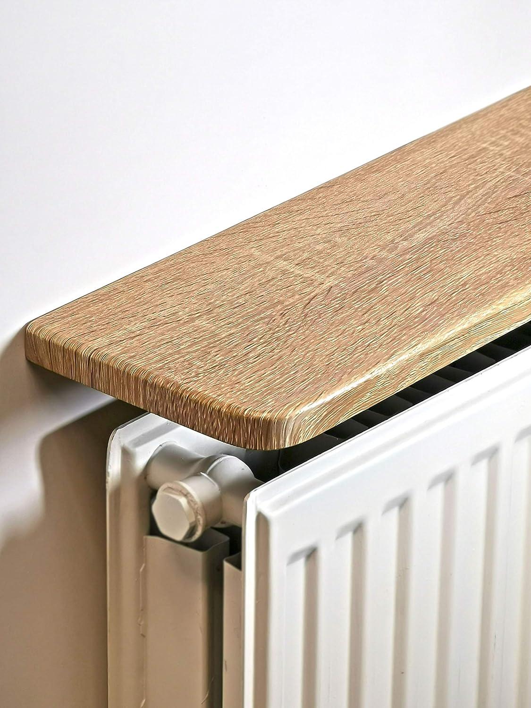 light Oak laminated Radiator Shelf (24x6 inc) 600x150x18mm