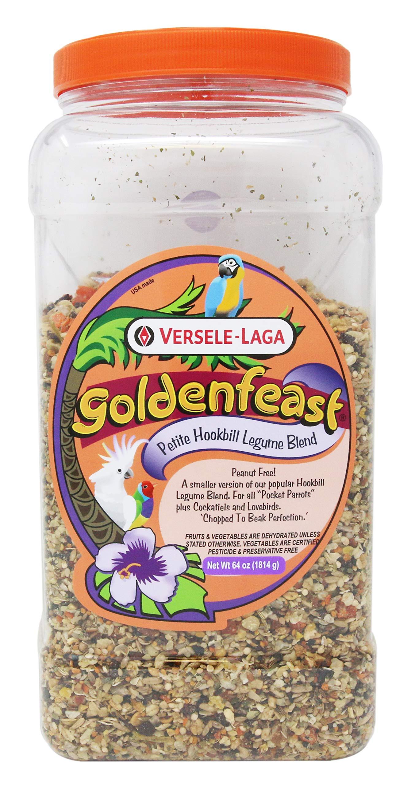 Goldenfeast Petite Hookbill Legume Blend 64 Ounces by Goldenfeast
