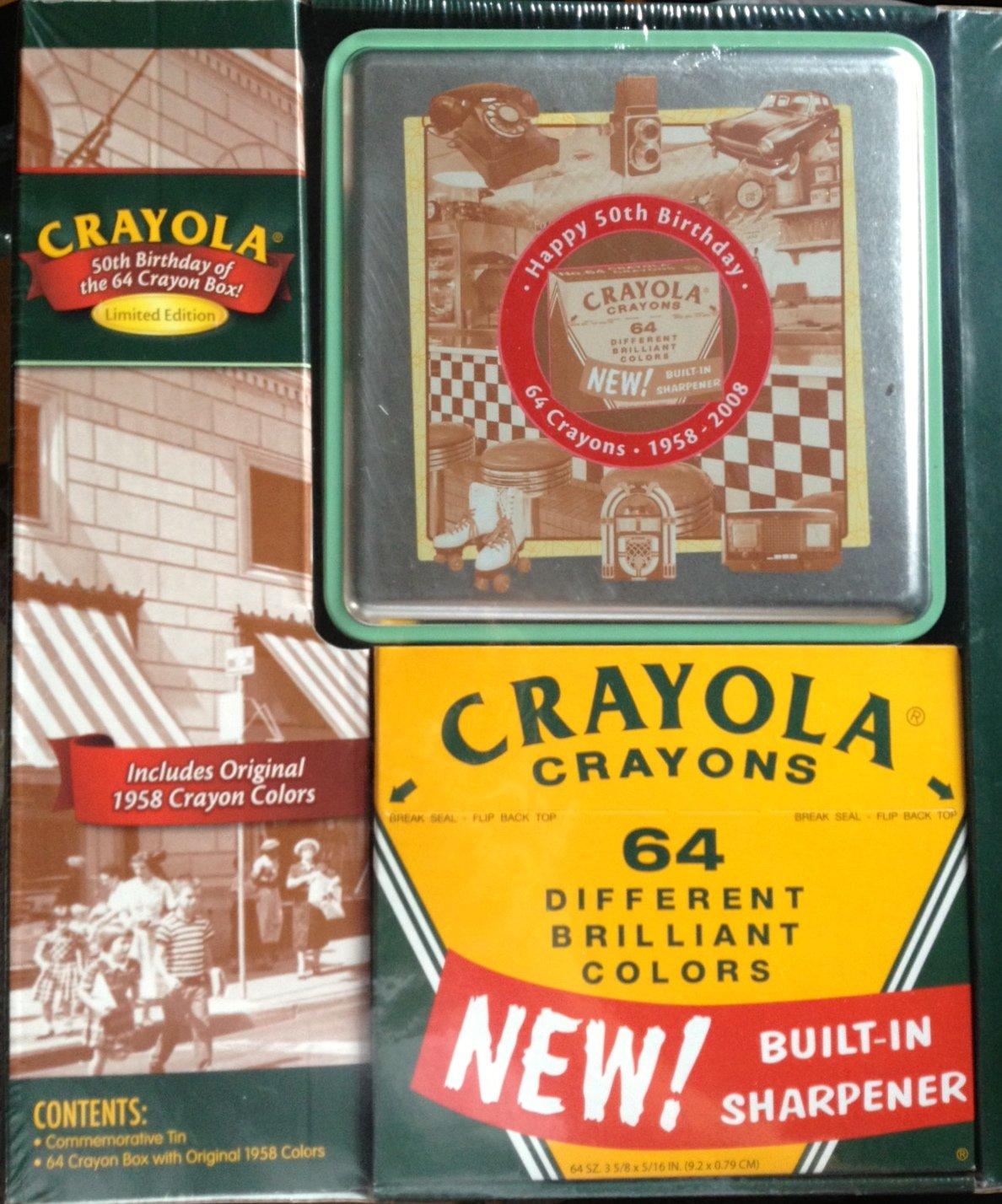 Crayola 64 Ct Regularクレヨンand Tinセット   B0018L8CKU