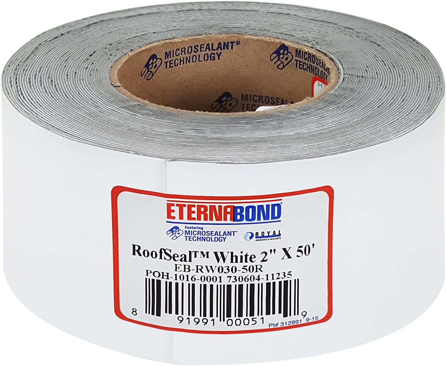 "EternaBond 2"" X 50 RV Rubber Roof Seal Repair White"
