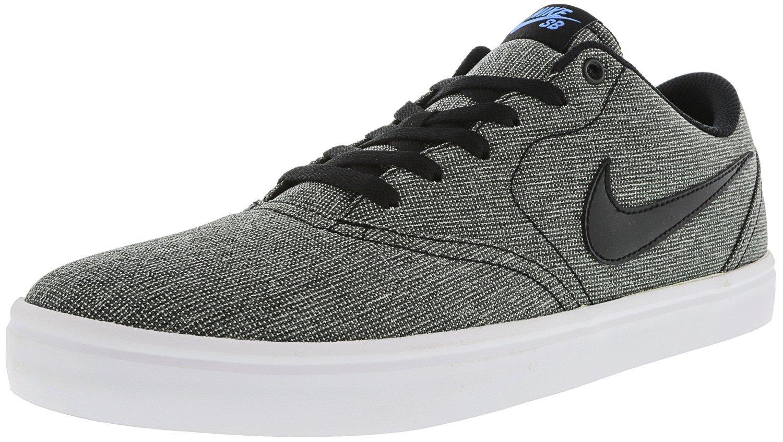 NIKE Men's SB Check Solarsoft Canvas Skateboarding Shoe B0178Q9G9O 9.5 D(M) US|Grey/Black/Photo Blue/Black