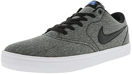finest selection b8b05 46af9 Nike Men s SB Check Solar Canvas Sneakers, 10(843896 004, Black White)