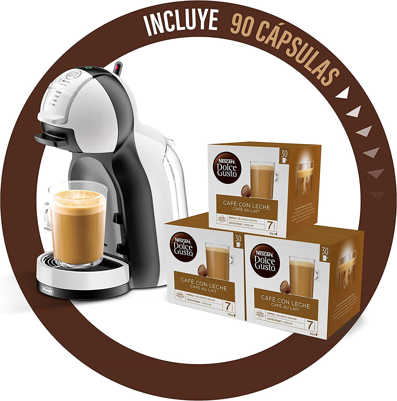 DeLonghi Dolce Gusto Mini Me EDG305.WB - Cafetera de cápsulas + Nescafé Dolce Gusto Magnum Café con Leche - Cápsulas de Café - 3 x 30 - 90 Cápsulas: Amazon.es: Hogar
