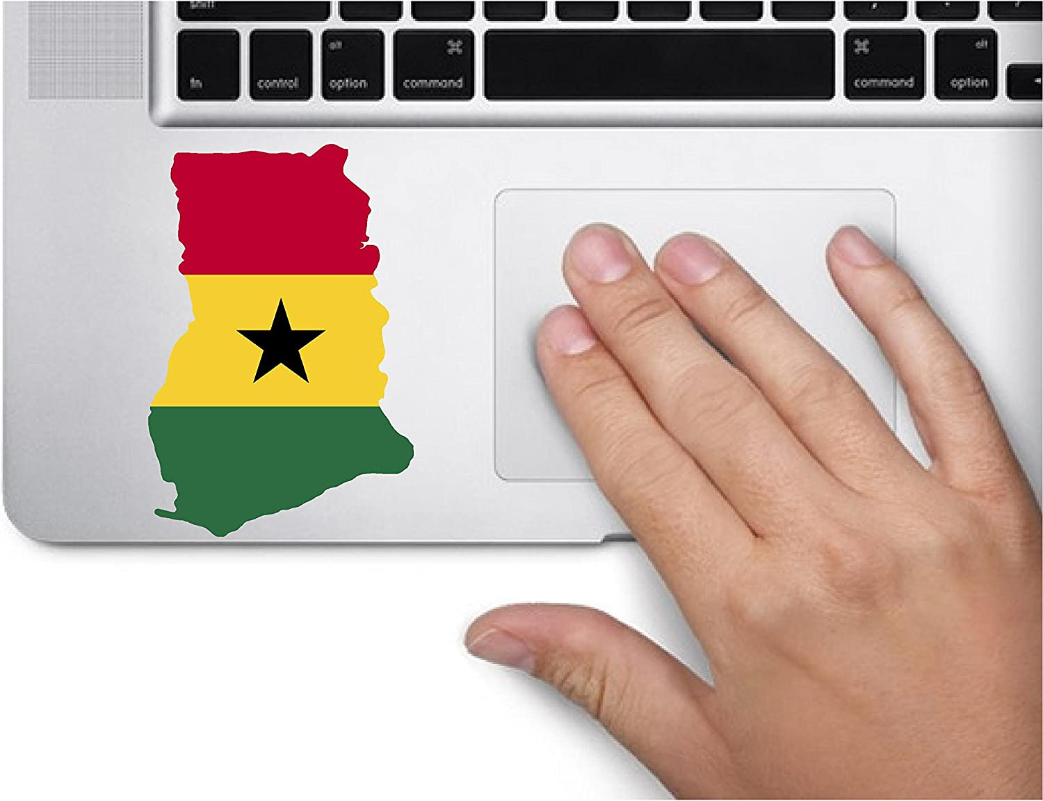 Map with Flag Inside Ghana 4x3.2 inches Sticker Decal die Cut Vinyl - Made and Shipped in USA