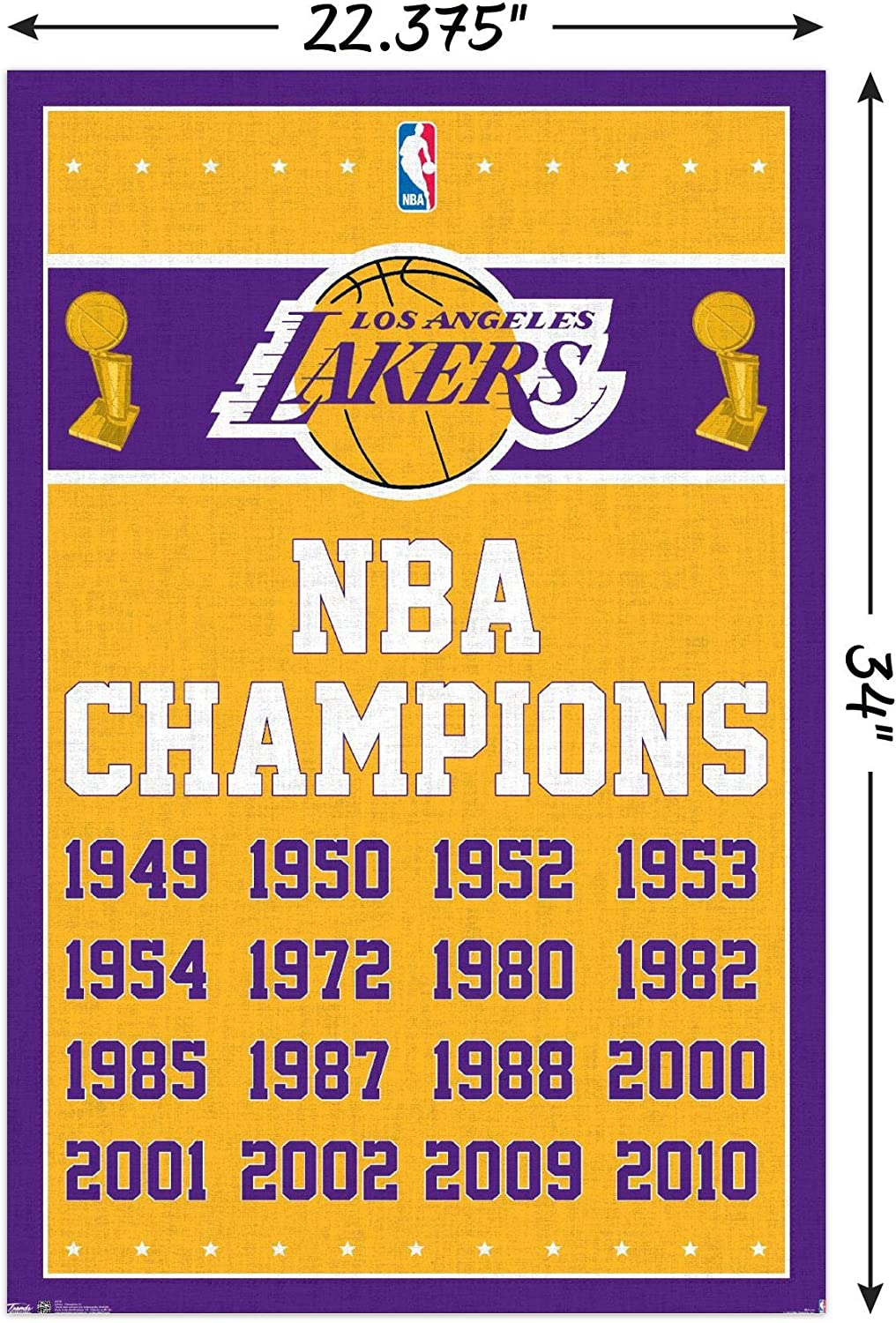 Kobe Bryant Los Angeles Lakers 2009-2010 NBA Back to Back Champions Team Photo Size: 8 x 10