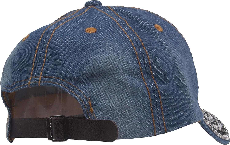 Chic Headwear Womens Route 66 Stones Distressed Fashion Baseball Cap