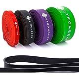 STRONGEAR Premium Pull Up & Fitnessbänder mit digitaler Übungsanleitung - Klimmzug- und Trainings-band für CrossFit u. Calisthenics/Widerstandsband/Resistance Band - verschiedene Größen