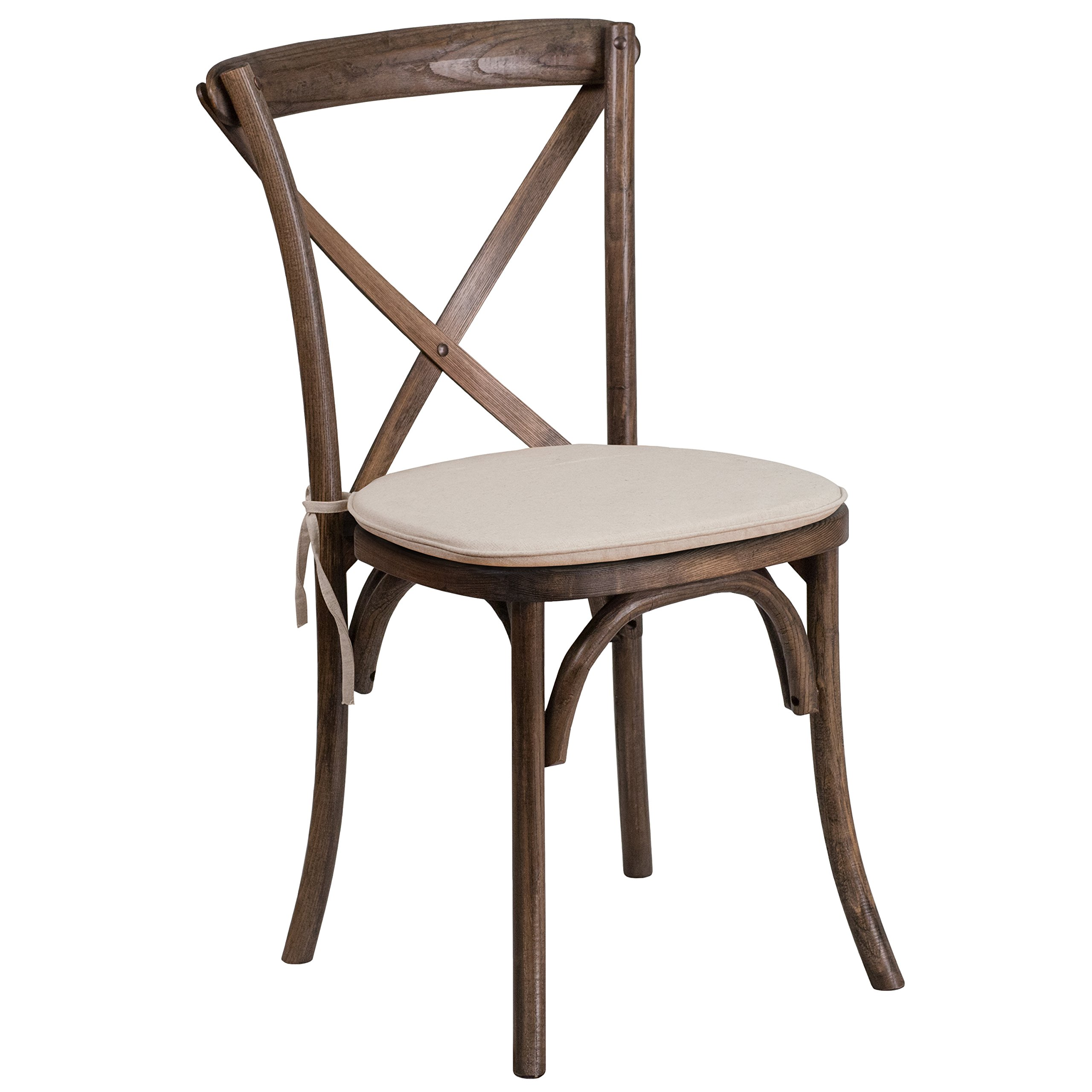 Flash Furniture Hercules Series Stackable Early American Wood Cross Back Chair with Cushion by Flash Furniture (Image #1)