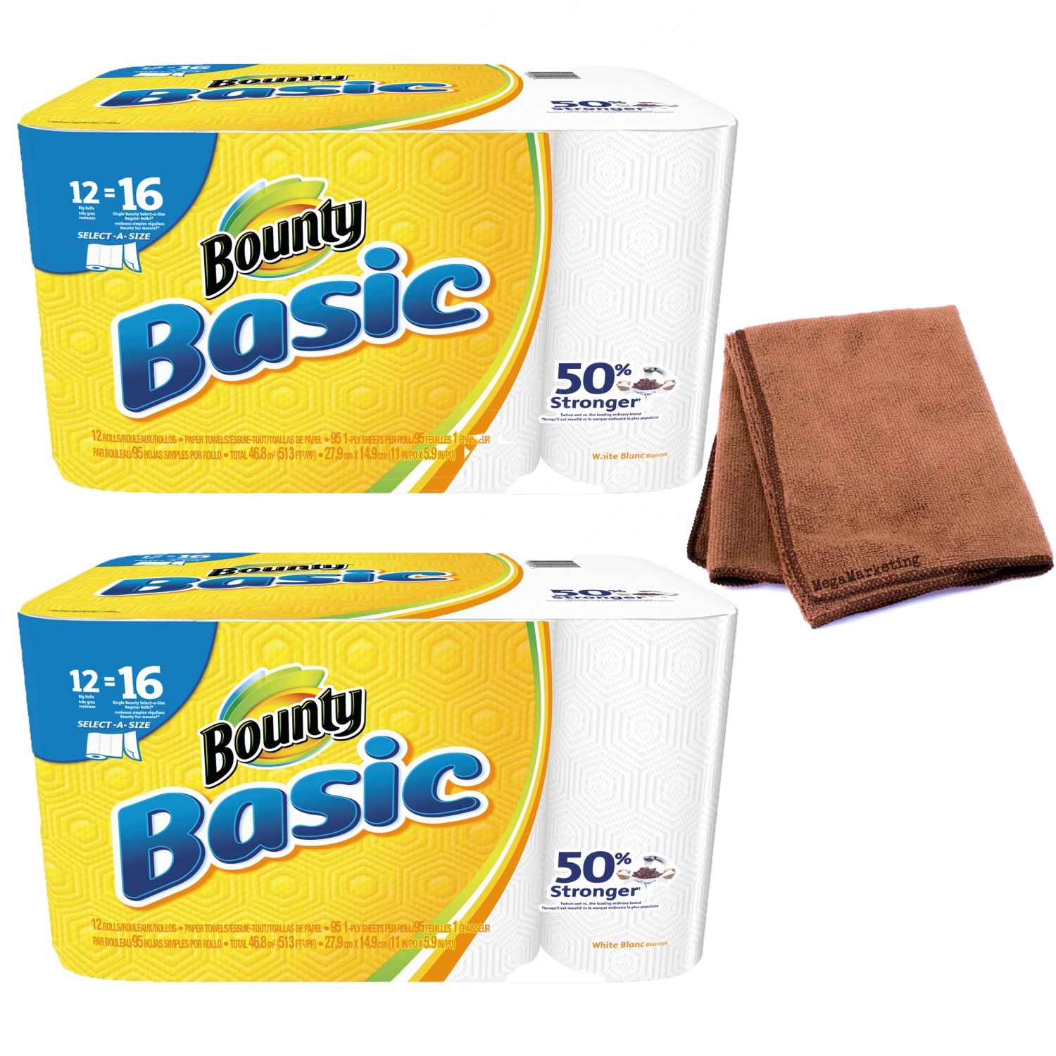 Amazon.com: Bounty 92970 Basic Select-A-Size Paper Towels, 5-9/10
