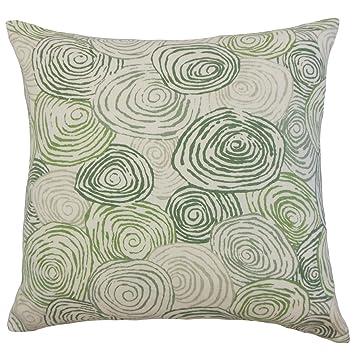 Amazon.com: La almohada Collection p18-pt-spirogyro-grass ...
