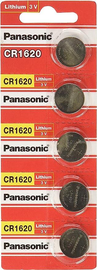 Panasonic Cr1620 Lithium Knopfzellen 3v 5 Stück Elektronik