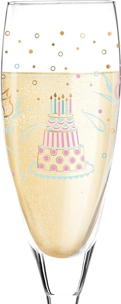 6,4/x 6,4/x 22/cm RITZENHOFF 3250019/Pearls Edition Verre /à Champagne Verre Multicolore