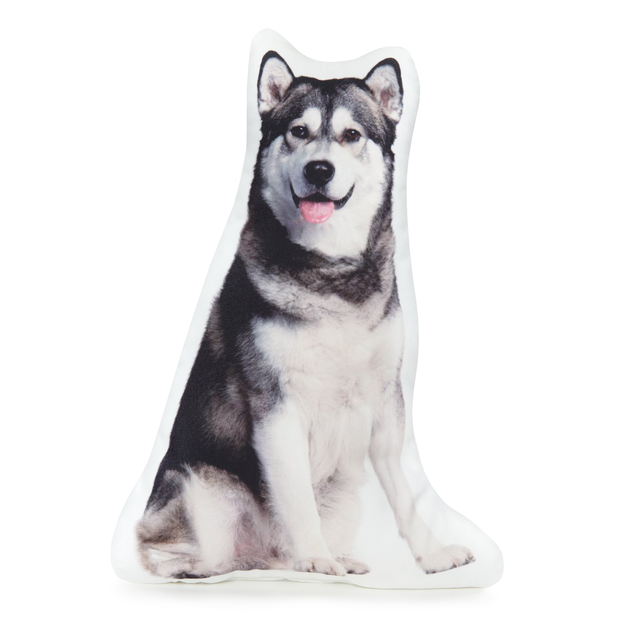 Cushion Co - Alaskan Malamute Dog Shape Pillow Life - Sized Measures 16'' x 12'' Shaped Pillows for Boys, Girls, Teens, and Mommies