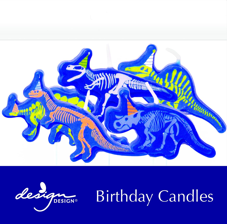 Design Design 758-08917 Dino-Mite Sculpted Birthday Candles Multicolor