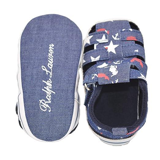 Baby Bucket Pre-Walker Sandal Shoes Light Weight Soft Sole Booties Sandal (D Denim Star 5-10 Months)