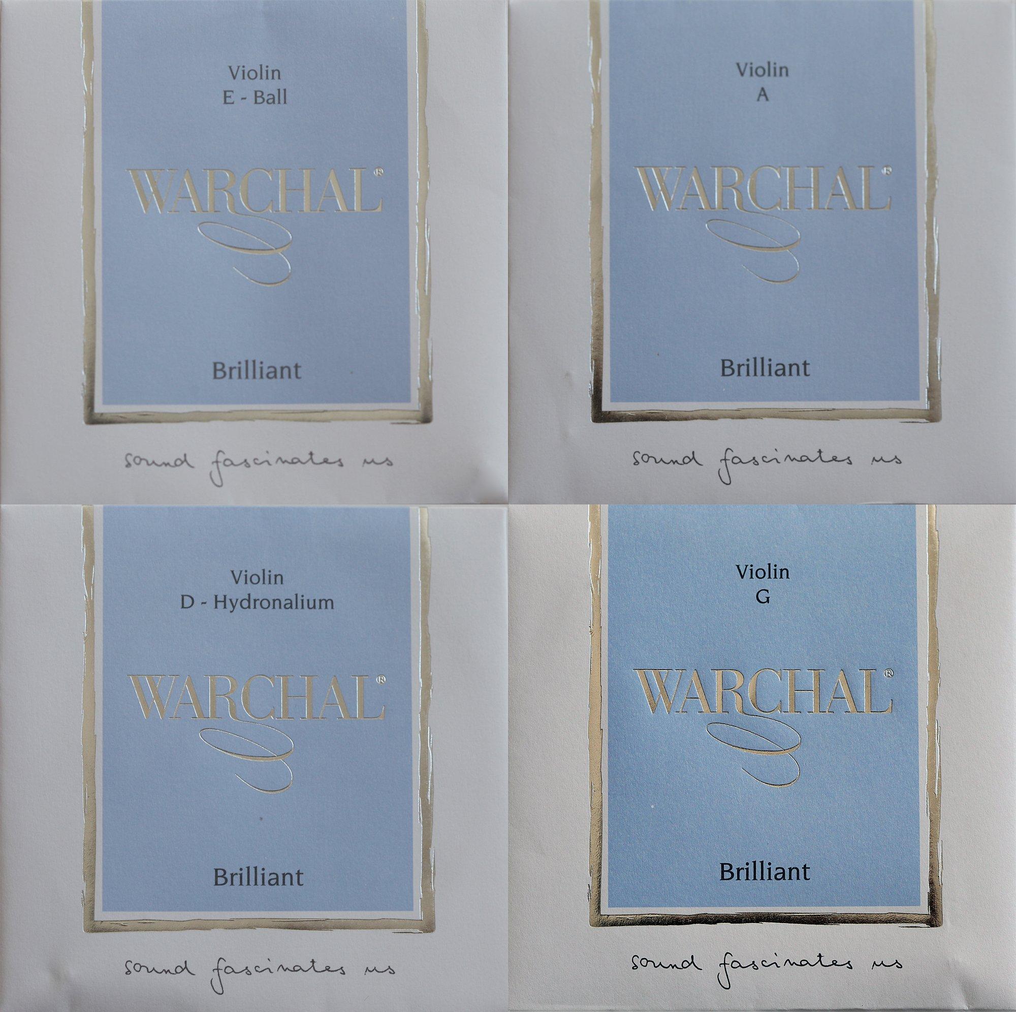 Warchal Brilliant 4/4 Violin String Set / Hydronalium D / Ball end E