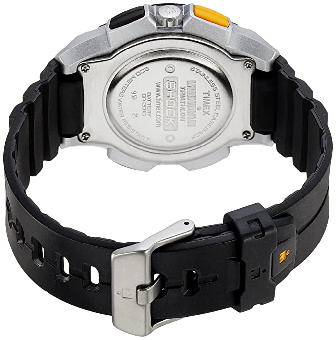 Amazon.com: Timex Mens Ironman   Shock Silver-Tone Case Black Resin Strap   T5K200: Timex: Watches