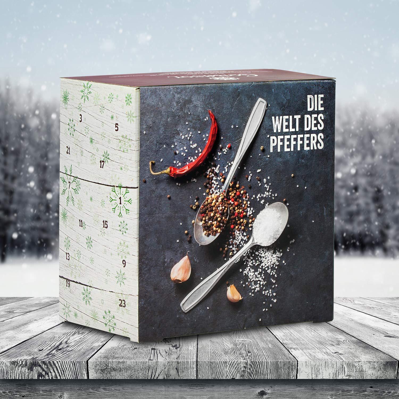 Corasol COR60SNP Premium Salt /& Pepper Calendario dellAvvento 2019 XXL 259 g lidea regalo spezia-gourmet per cuochi amatoriali