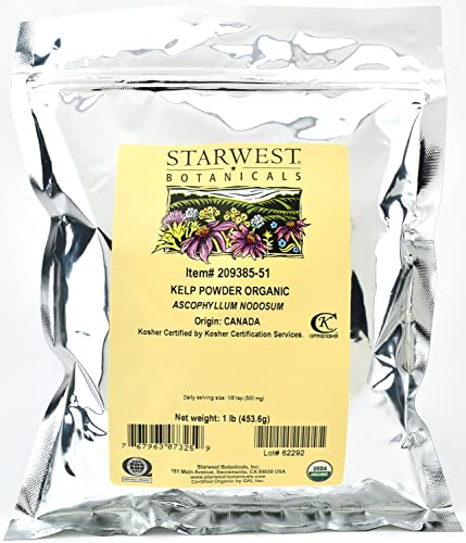 Starwest Botanicals Organic Kelp Powder, 1 Pound Pack of 3