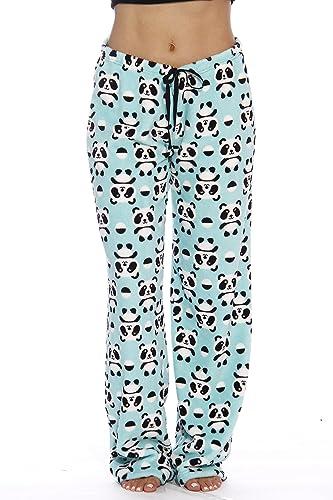 Just Love Women's Plush Pajama Pants, Small, Panda Jam
