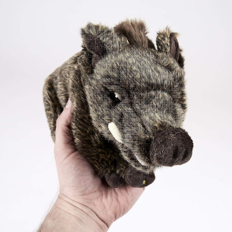 Pl/üschtier Stofftier ca 26 cm stehend Keiler Wildschwein Schwarzwild Basse