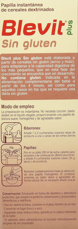 Blevit Plus Sin Gluten Cereales - 300 gr: Amazon.es: Alimentación y bebidas