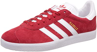 adidas Gazelle, Baskets Basses Homme, Rouge (Scarlet/ftwr White/gold Met