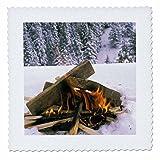3dRose qs_83203_3 Camping in Winter Snow LI06