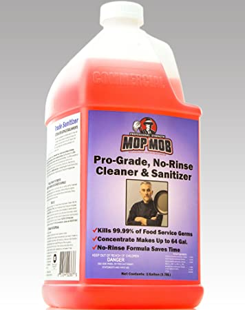 Mop Mob No-Rinse Cleaner & Disinfectant 1 Gallon Concentrate - up to 64gal   Strong,
