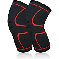 Knee Sleeves (1 Pair) Support & Compression for The Best Squats Knee Support and Pain Relief in Weight Lifting Improved Circulation Compression - Effective Support for Workout and So On