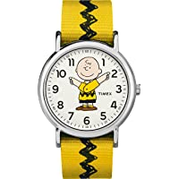 Timex 天美时 中性款尼龙防滑表带手表 TW2R41100 Weekender x Peanuts: Charlie Brown