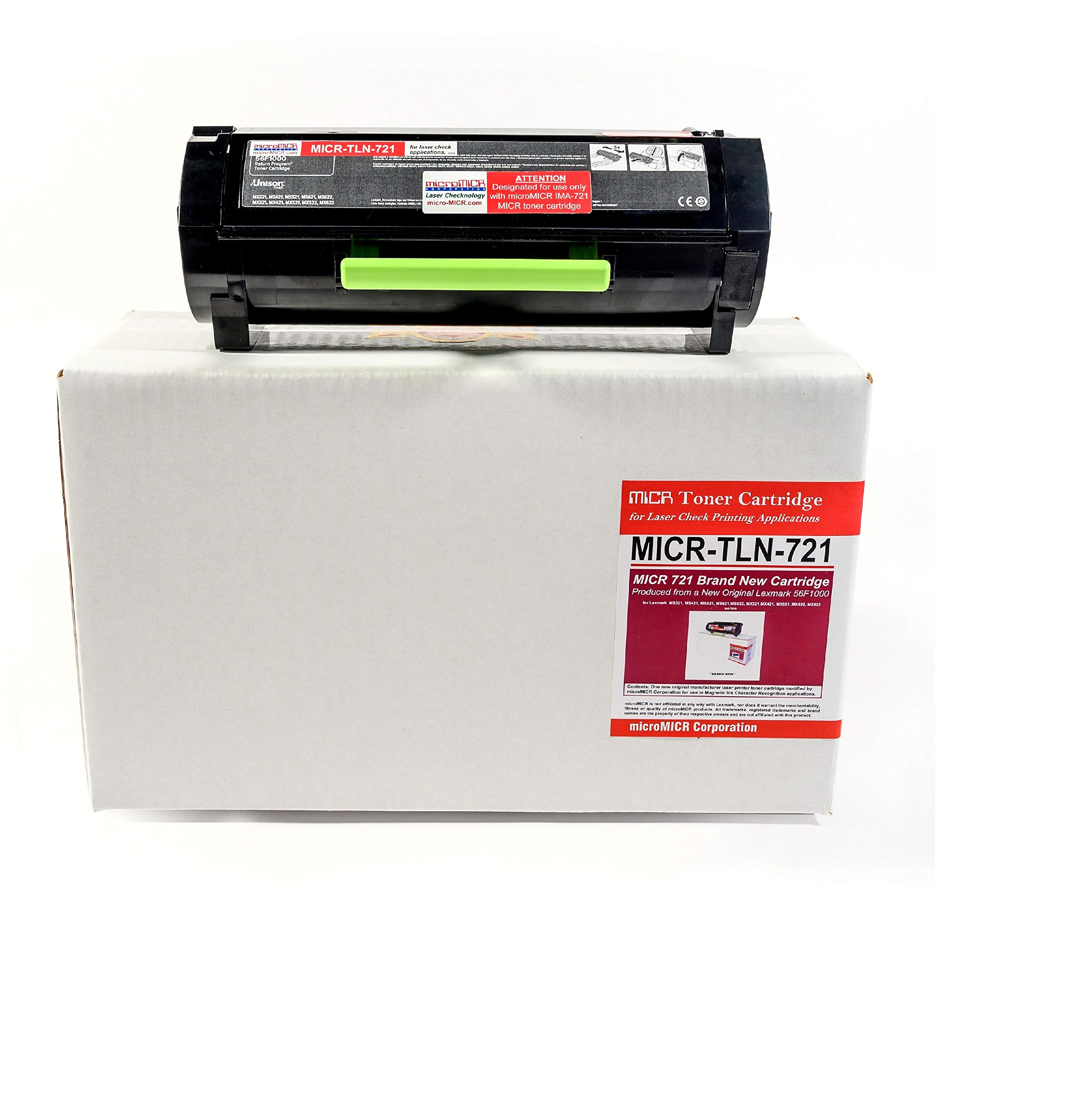 MicroMICR OEM MICR for LEXMARK 56F1000 Black Return Program Toner Cartridge - TLN-721 by MicroMICR