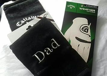 Personalizable Dad Callaway Golf Toalla y grande Callaway Golf guantes (regalo perfecto): Amazon.es: Deportes y aire libre