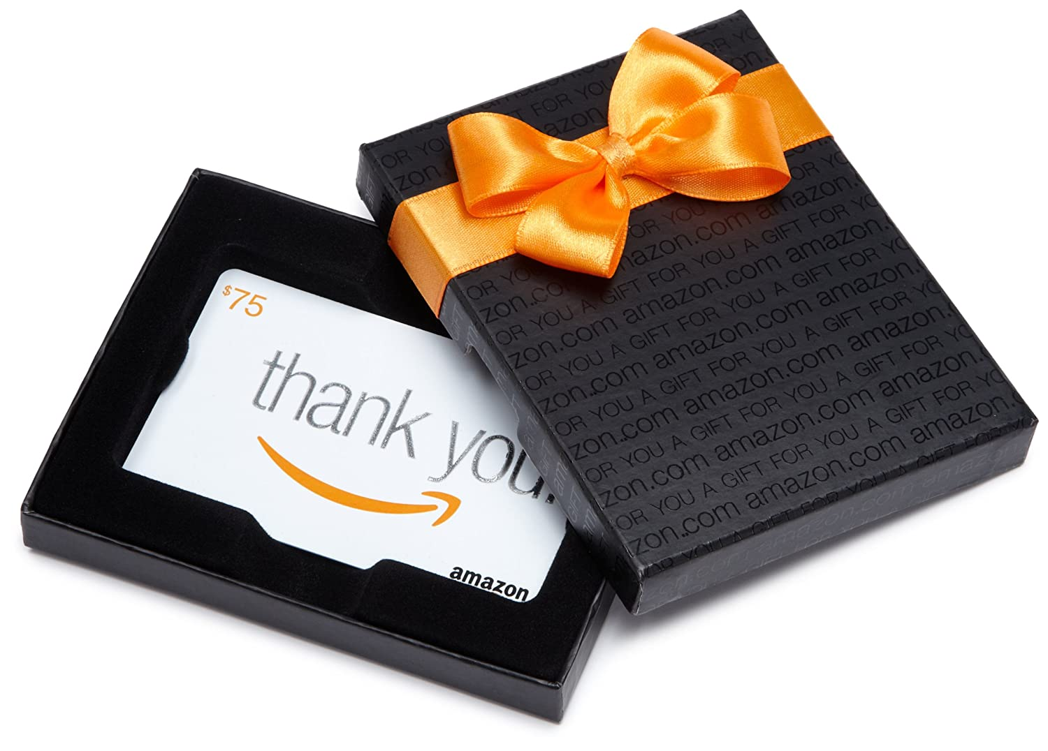Gift Card in a Black Gift Box Thank You Card Design
