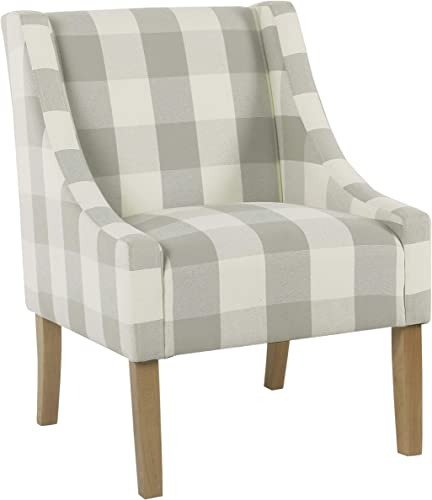 HomePop Modern Swoop Arm Accent Chair