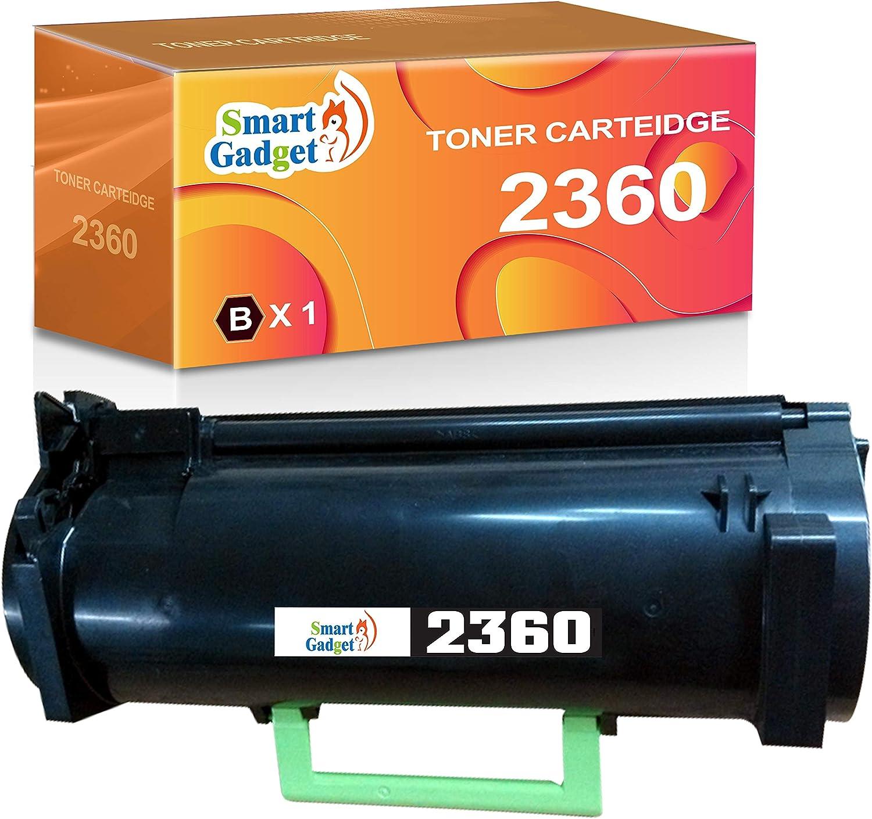 (1-Pack, Black) Smart Gadget Compatible B2360 Toner Cartridge Replacement for Dell B2360DN B2360 2360DN 2360 B2360d B3460dn B3465dn B3465dnf 331-9805 Printer