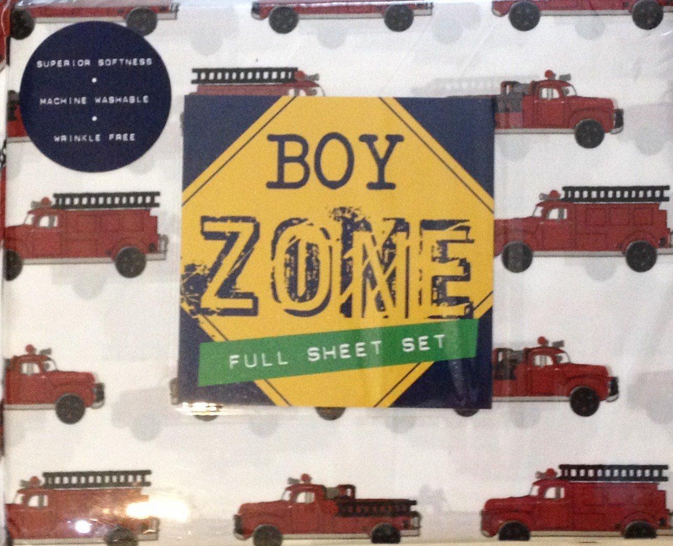 Boy Zone Full Sheet Set rot Fire Engine
