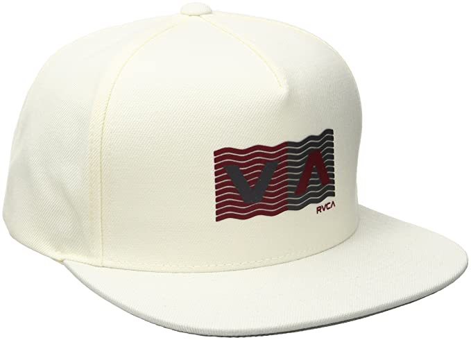 detailed look 183de a1360 RVCA Men s Wave Box Snapback Hat, Off White, One Size