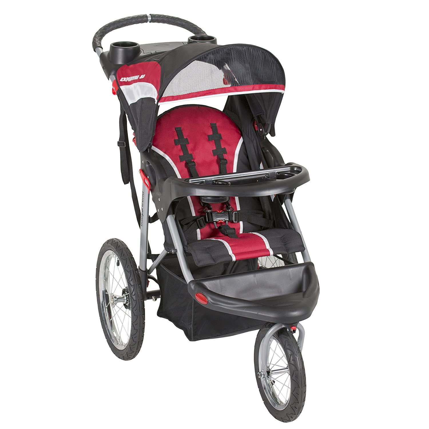Amazon Baby Trend Expedition Jogger Folding Jogging Stroller Raven