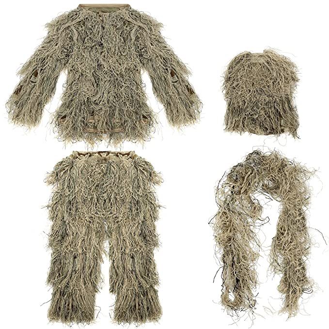 542e09affc3 Image Unavailable. Pellor Children 3D Leafy Leaves Camouflage Clothing  Outdoor Jungle Woodland Hunting Camo Ghillie Suit