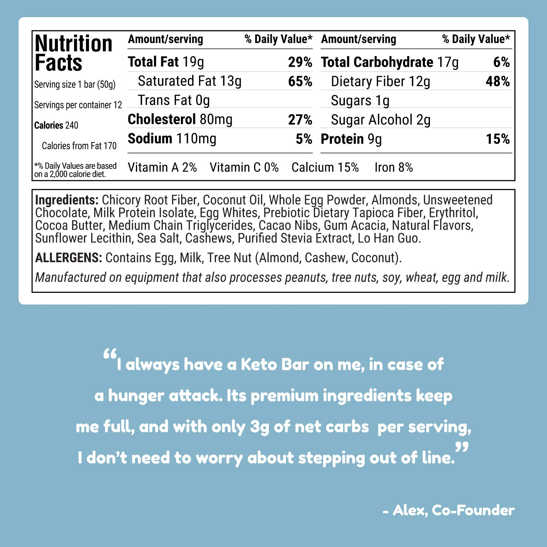 Kiss My Keto Snacks Keto Bars - Keto Chocolate Cookie Dough (3 Pack, 36 Bars), Nutritional Keto Food Bars, Paleo, Low Carb/Glycemic Keto Friendly Foods, All Natural On-The-Go Snacks, 3g Net Carbs by Kiss My Keto (Image #5)