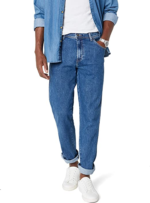 Wrangler Regular Fit Straight Leg Vaqueros para Hombre