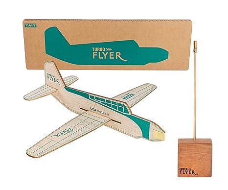 Amazon com: TAIT Design Co  Turbo Flyer Balsa Airplane Glider Kit