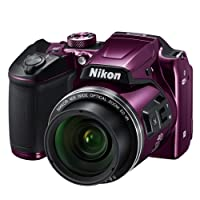 Nikon B500 Coolpix Digital Compact Camera - Plum