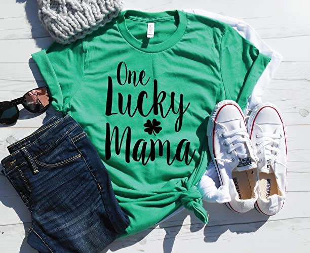 eb140da0 Image Unavailable. Image not available for. Color: One Lucky Mama Shirt/St. Patricks  Day Mom ...