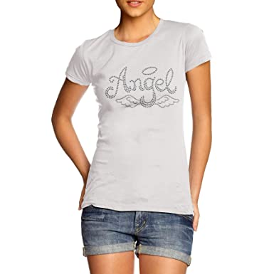 TWISTED ENVY Damen T-Shirt Weiß Weiß