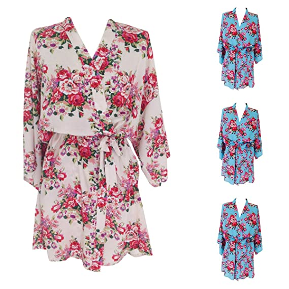 Multiple Sets Cotton Bridal Bridesmaids Robes Dressing Gowns Kimonos ...