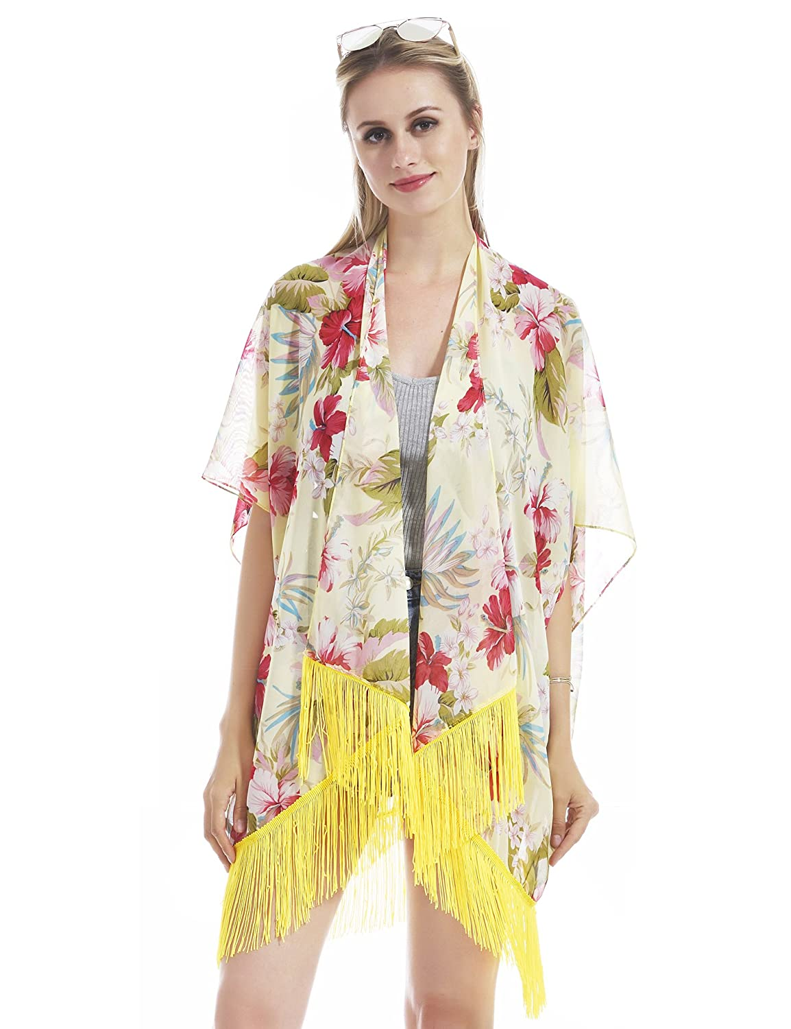 0edcc32a98 Gorgeous and elegant floral pattern, giving you the most attractive look at  the beach. Mutipurpose - this cover-up can be worn on different ...