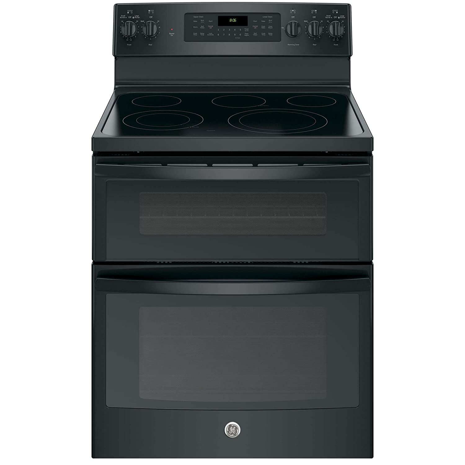 "GE JB860DJBB 30"" Black Electric Smoothtop Double Oven Range - Convection"